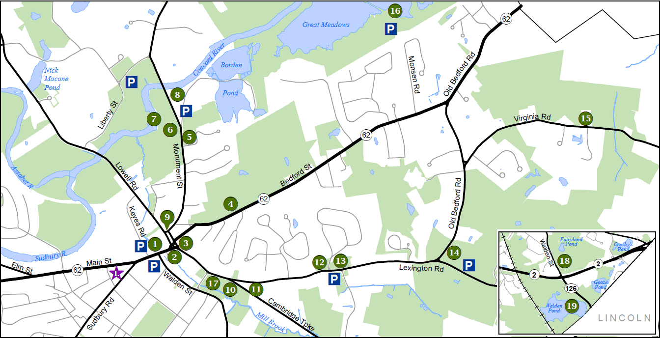 Sites of Interest Parking Map