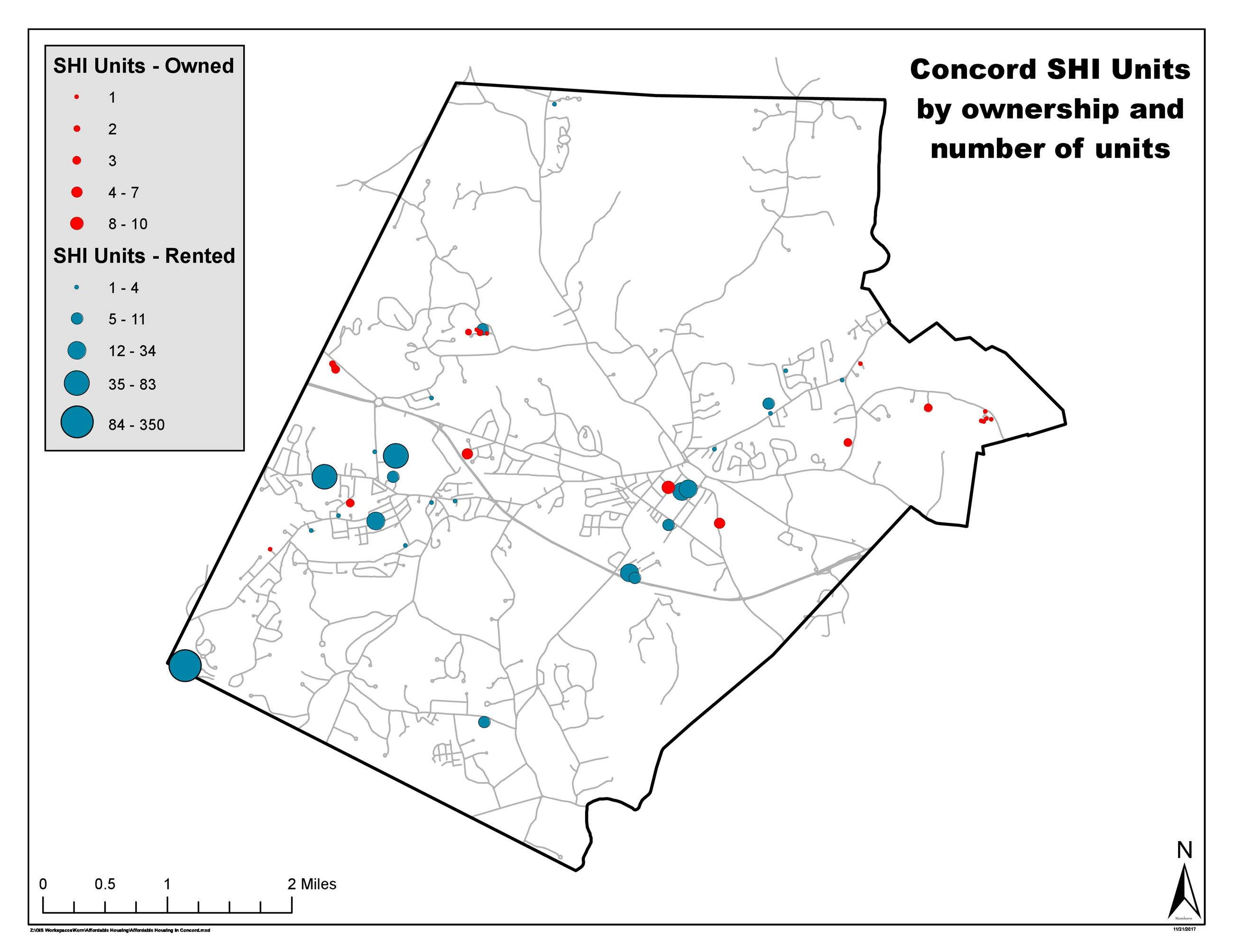 Concord Map of Affordable Housing 11.27.17