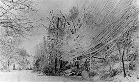 Concord Ice Storm aftermath circa 1921