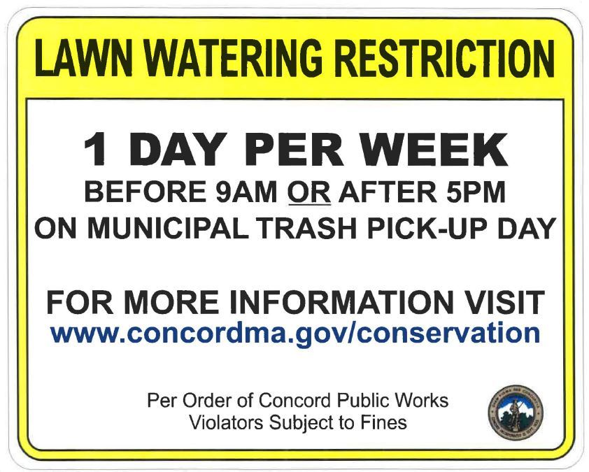 Lawn Watering Restriction