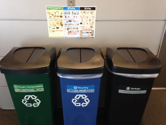 3 Recycling Bins