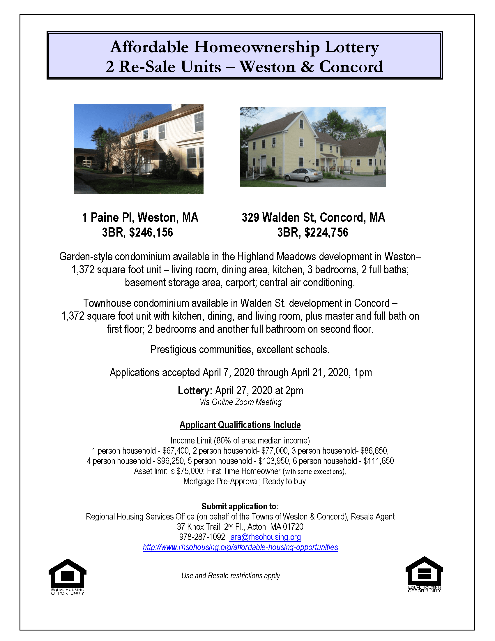 329 Walden St_1 Paine Pl - combined lottery Housing Flyer
