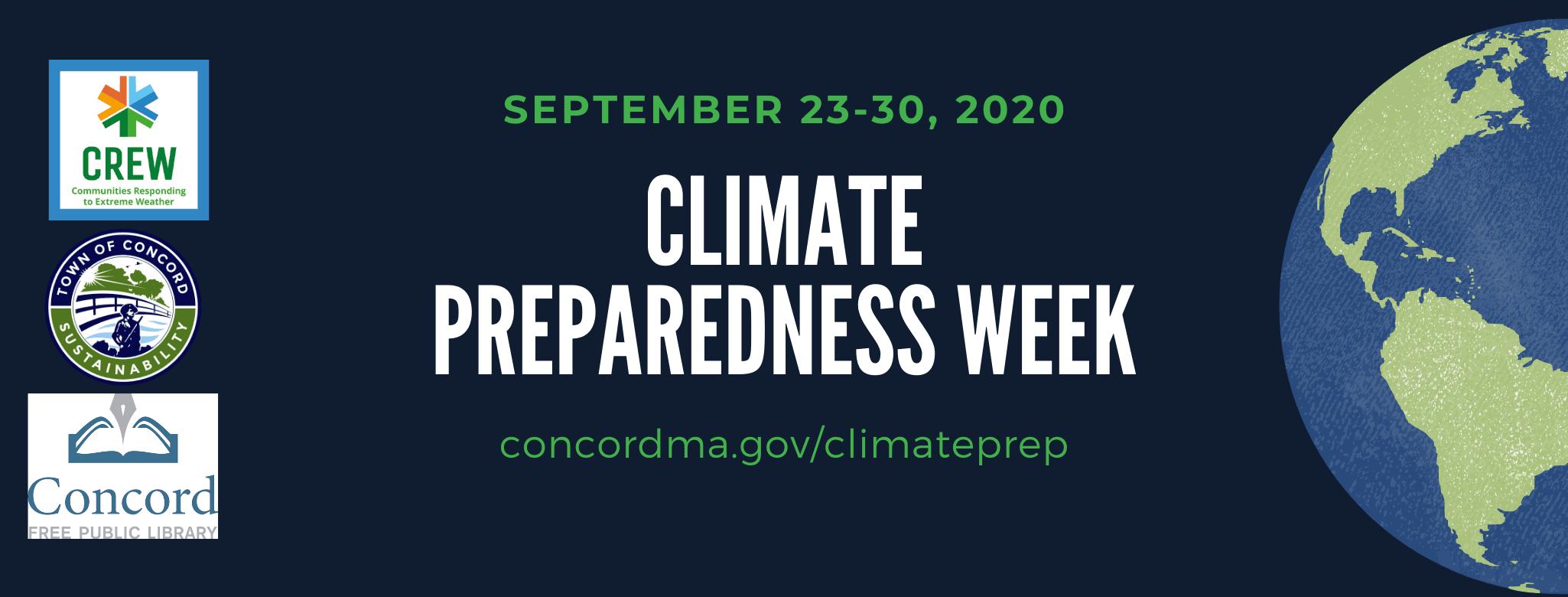 Climate Preparedness Week banner
