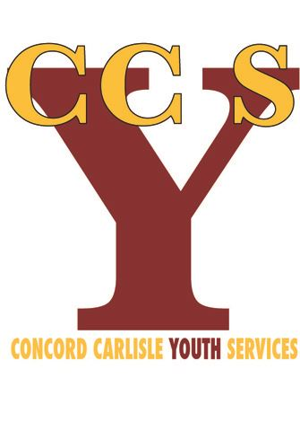 Concord Carlisle Youth Services Logo with a Large Y