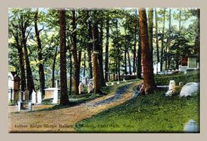 Authors Ridge at Sleepy Hollow 1930S Postcard