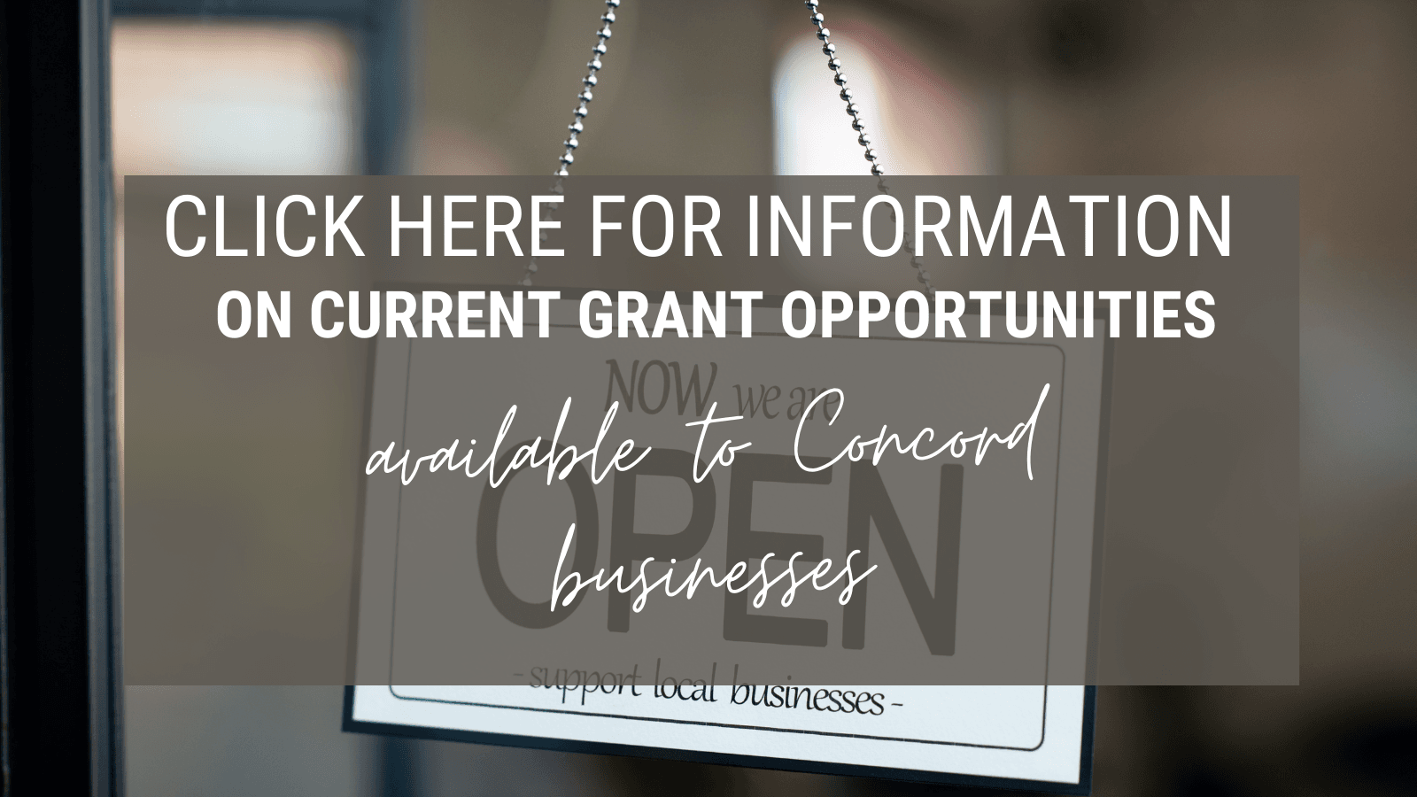click here for information on grant opportunities