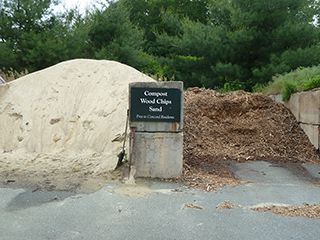 Compost Wood Chips Pile