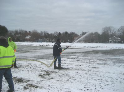 Concord Public Works Staff Creating the Rink