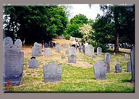 Old Hill with Multiple Headstones