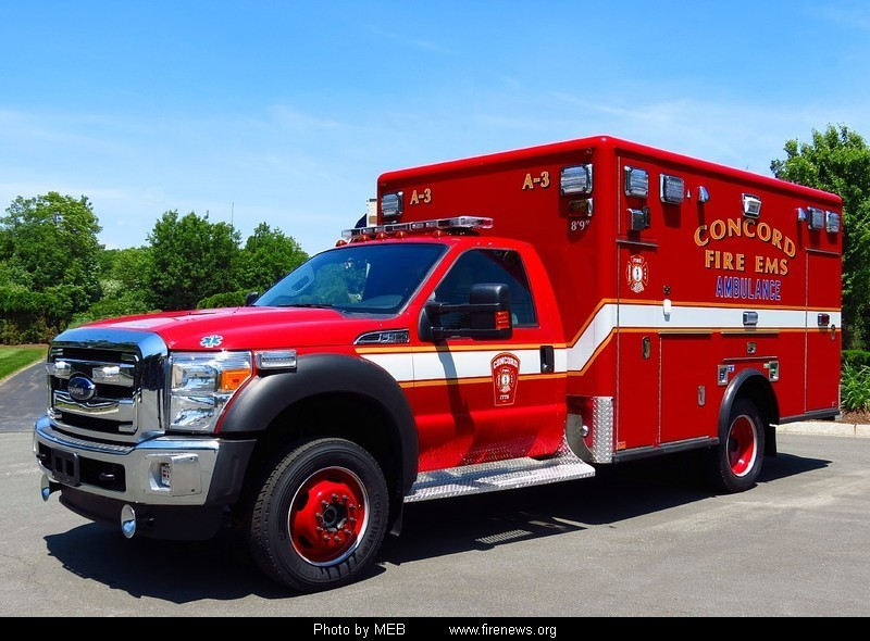 Red Ford F450 Ambulance