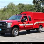 Red Ford Water Rescue Truck